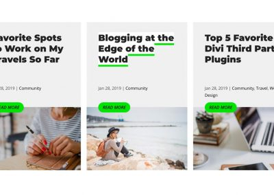 Free Divi Blog Grid Look + Category, Tag, Search Results