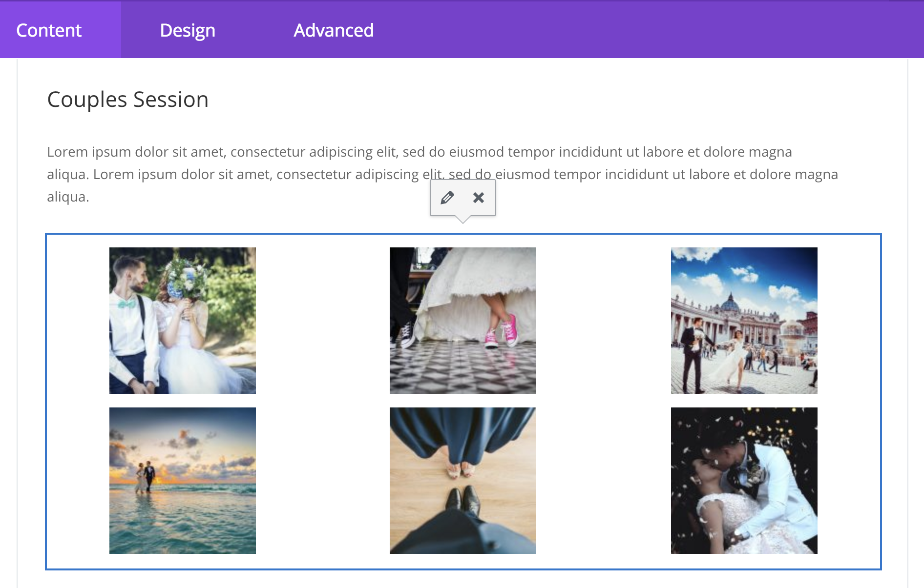 Custom Side / Vertical Tabs Section Layout for Divi