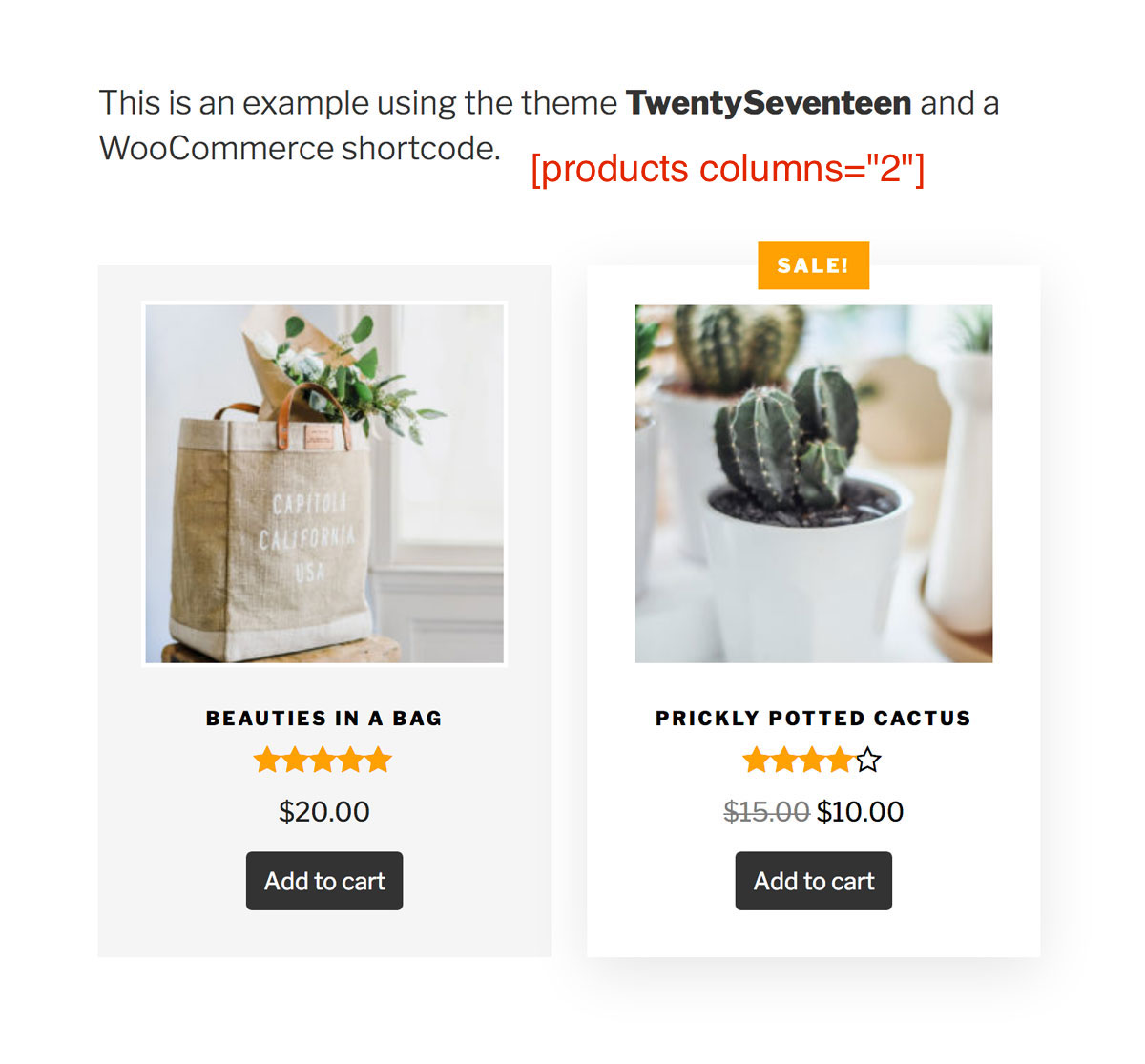WooCommerce Shop Grid Styling for TwentySeventeen